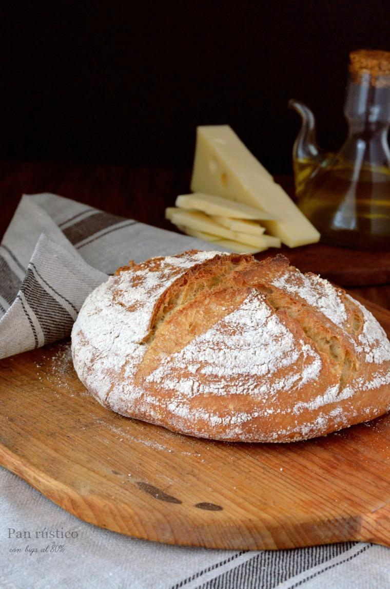 Pan rústicon con biga con queso y aceite 1 texto