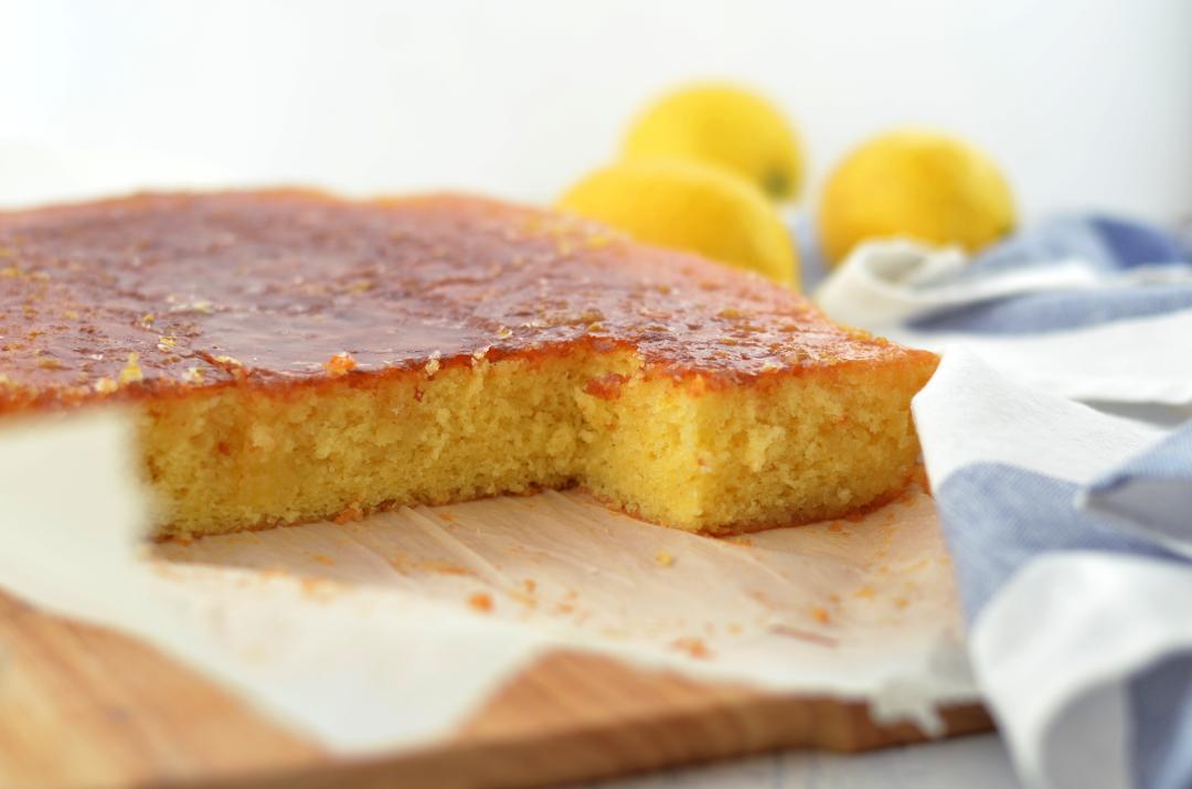 Bizcocho de limón destacada