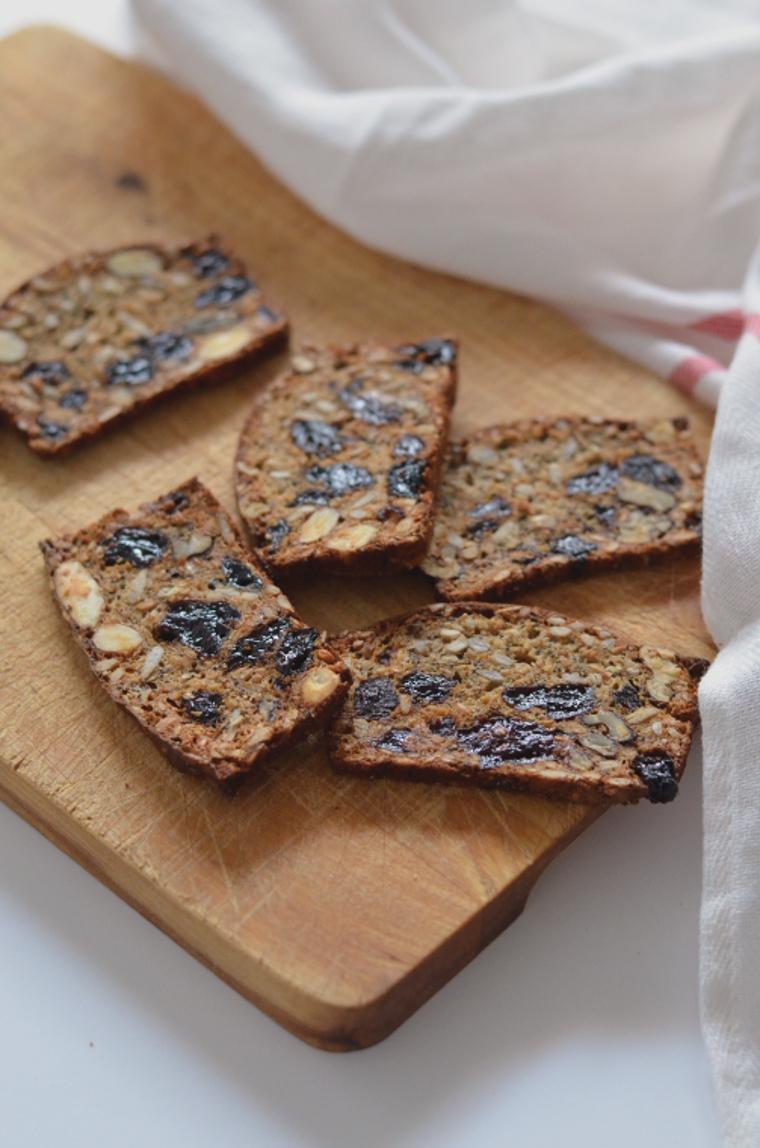 Crackers de frutas y frutos secos 3